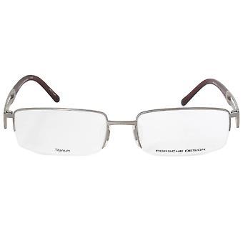 ポルシェ デザイン P8703 C 長方形 |マット銀 |眼鏡フレーム