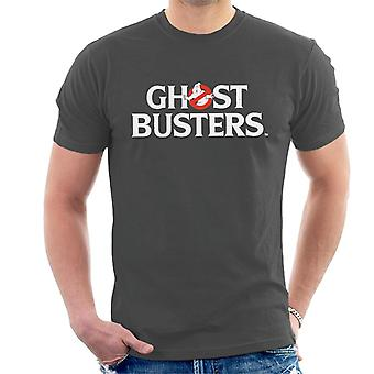 Ghostbusters White Text Logo Men's T-Shirt
