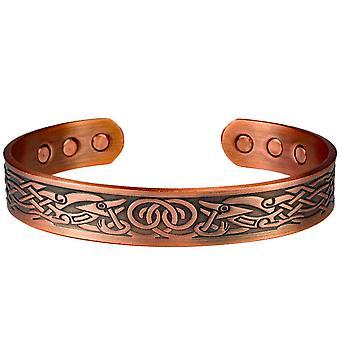 MPS® DAMINA bracelet magnétique en cuivre pur avec 6 aimants avec pochette cadeau de luxe