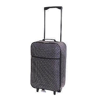 Slimbridge Barcelona Kabine zugelassen Tasche, schwarze Punkte