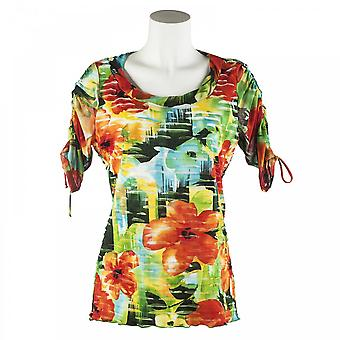 Joseph Ribkoff Round Neck Foral Long Sleeve Top