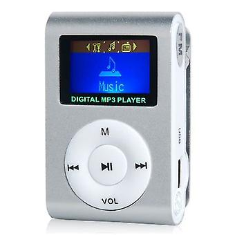 Compact MP3 player with microphone, Silver