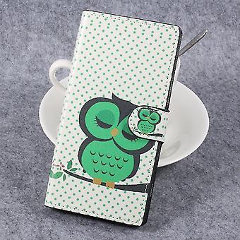 Sony Xperia XZ Premium Wallet Caso-Verde OWL Durmiendo