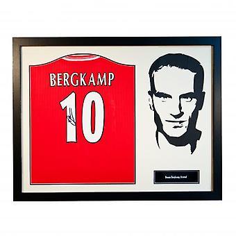 Arsenal Bergkamp podpisane koszula sylwetka