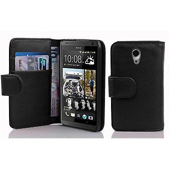 Custodia Cadorabo per HTC DESIRE 700 Case Cover - Custodia in pelle finta strutturata con funzione stand e scomparto della scheda – Case Cover Case Case Case Case Book Folding Style