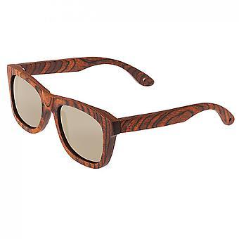 Spectrum Peralta Wood Polarized Sunglasses - Orange/Gold