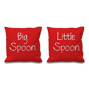 Big Spoon Little Spoon Red Cushion Covers 16