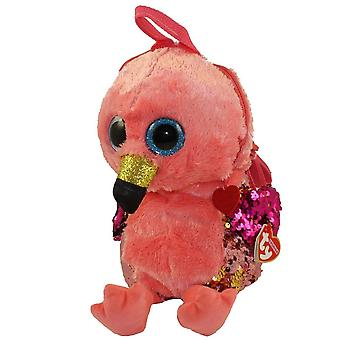 TY Flippable Sequins Gilda Pink Flamingo Backpack