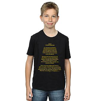 Star Wars Boys The Empire Strikes Back Opening Crawl T-Shirt