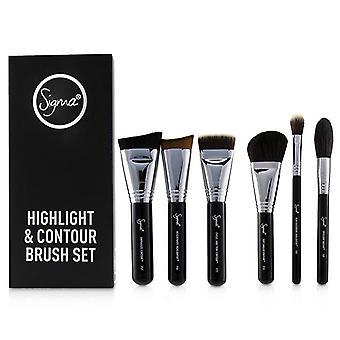 Sigma Belleza Highlight y Contour Pincel Set - 7pcs