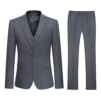 Allthemen Men's One-Button Slim Four Seasons 3-Piece Suit