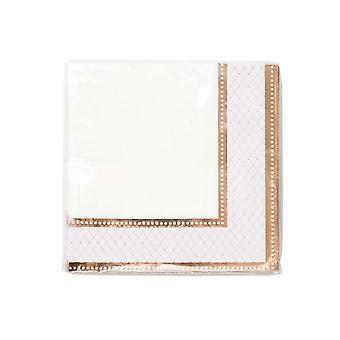 Rose Gold Edged Paper Napkins x 16 Birthdays / Weddings / Party