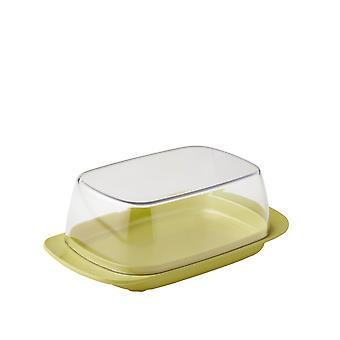 Rosti Mepal Plastic Butter Dish, Clear with Nordic Lemon Base
