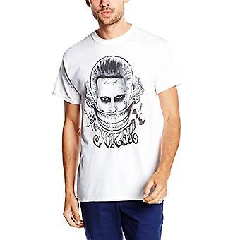 Miesten itsemurha Squad Joker Smile valkoinen T-paita