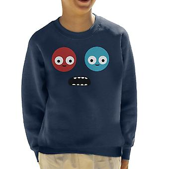 Trover Saves The Universe Face Kid's Sweatshirt