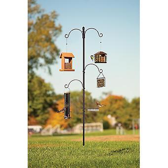 La stazione di alimentazione degli uccelli essenziali ha incluso asst Hangers.