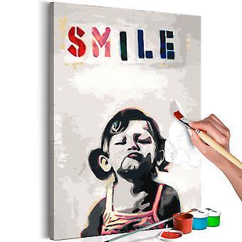 Doe-het-zelf op canvas schilderen - Little Girl