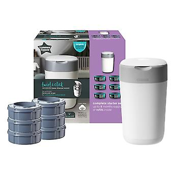 NEW VERSION 2019 Tommee Tippee Twist & Click Tub with 6 Cassettes