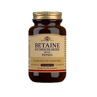 Solgar Betaine Hydrochloride kanssa Pepsiini Tabletit 100 (240)
