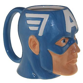 Molded Mug - Marvel - Captain America Face 16oz New momg-avas-capshld