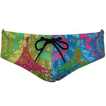 Versace Luxe monivärinen kukka tulostaa uinti alus housut