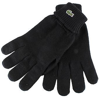 Lacoste Knitted Gloves - Black