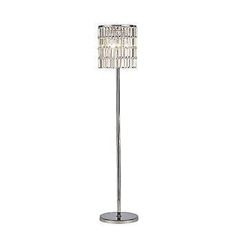 Diyas Torre krystall gardin etasje lampe 5 lys polert krom