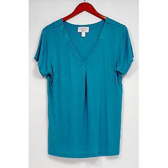 Carole Hochman Women's Sleepshirt Modal Spandex Satin Blue A292529