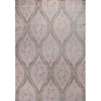Pierre Cardin Design matto akryyli vaaleanpunainen/vihreä