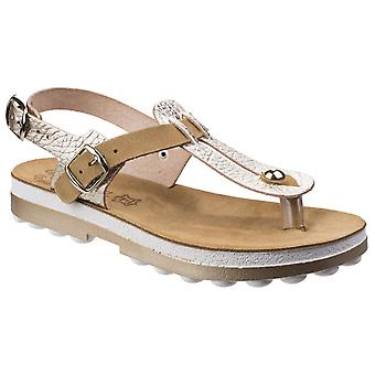 Fantasy Womens Marlena Buckle Up Sandal Gold Volcano Cuoio