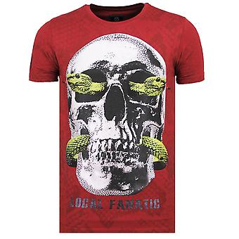 Skull Snake - Fun T-Shirt - 6326B - Bordeaux