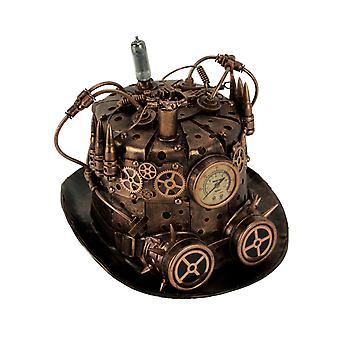 Copper Metal Look Steampunk Bullet Top Hat Gears and Goggles