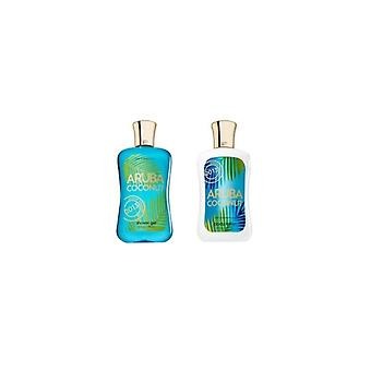 Bad & lichaam werkt Aruba Coconut body lotion & douchegel set