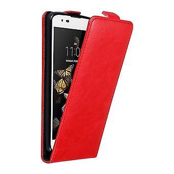 Cadorabo tapauksessa LG K8 2016 tapauksessa kansi - puhelin kotelo flip design magneettilukko - case cover suojakotelo tapauksessa taitto tyyli
