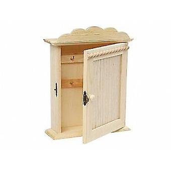 Wood Key Cabinet to Decorate | Wooden Shapes for Crafts