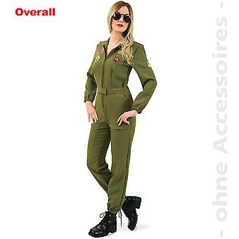 Las señoras traje de piloto de combate piloto de caza estelar piloto señora traje