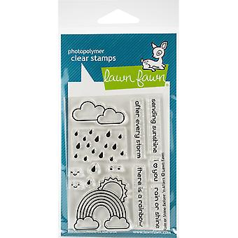 Lawn Fawn Rain or Shine Before 'n Afters Clear Stamps