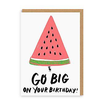 oh Deer Go Big Watermelon Carte d'anniversaire