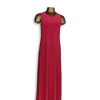 Attitudes by Renee Petite Dress XS Maxi Pull On Sleevless Bright Pink A347505