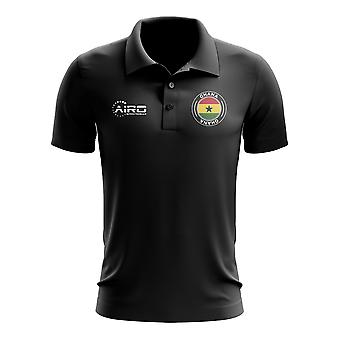 Ghana fotball Polo shirt (svart)