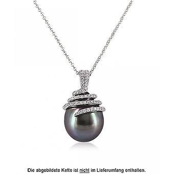 Luna-Pearls Pearl Pendant Tahitiperle 11.5-12 mm 750/-White Gold Brilliants 0.27ct. 1022340