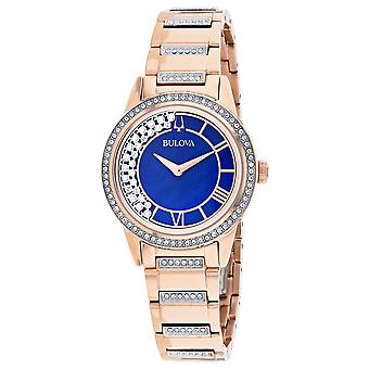 Bulova Women-apos;s TurnStyle Blue Mother of Pearl Dial Watch - 98L247