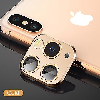 لفون X / Xs / XS ماكس عدسة الكاميرا اي فون 11 برو نمط 1 - الذهب