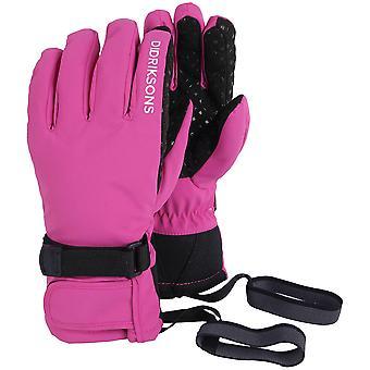 Didriksons Cinq gants imperméables pour les jeunes (fr) Rose plastique