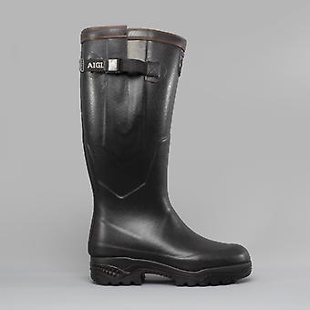 Aigle Parcours 2 Iso Unisex Buckle Wellington Boots Noir