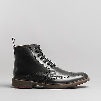 Antonio Hombres Leather Botines Negro