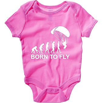 Body neonato rosa raspberry dec0112 evoluzione paracadutismo nato per volare