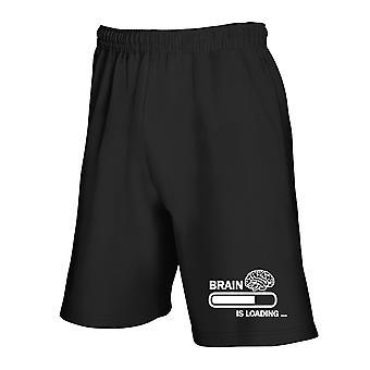 Black tracksuit shorts tsr1053 brain is loading
