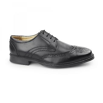 Cotswold Mickleton Mens Leather Derby Shoes Black