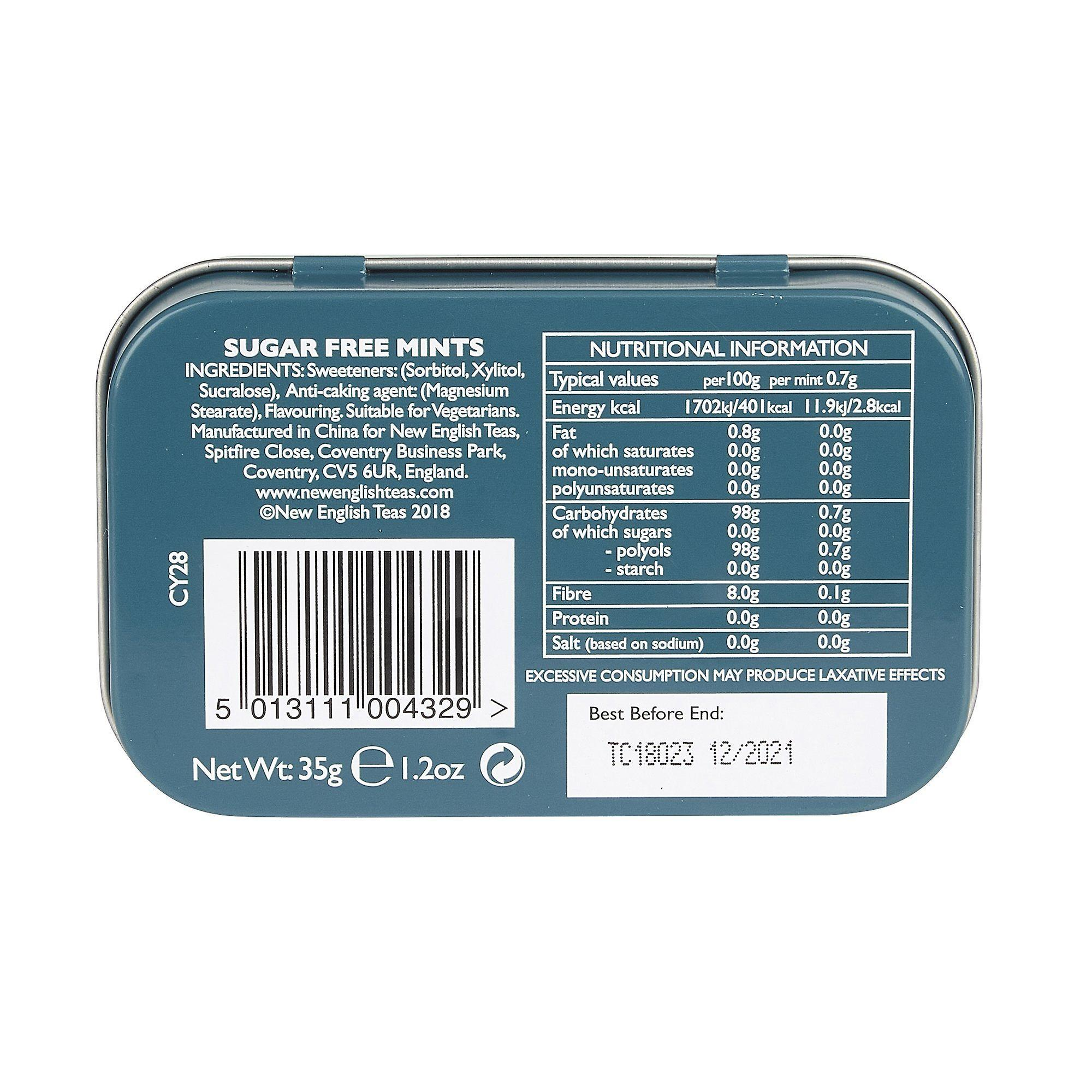 University of cambridge sugar free mints pocket tin 35g
